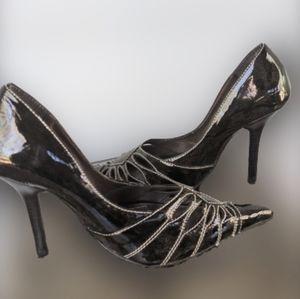 Dunes black heels size 5.